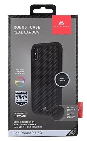 Black Rock Robust Case Real Carbon Black for iPhone XR