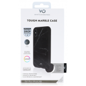 White Diamonds Tough Marble Black Case for iPhone XR