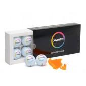 6 Covestro Golfbälle mit 20 Makrolon® Golftees