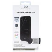 White Diamonds Tough Marble Black Case for iPhone XR
